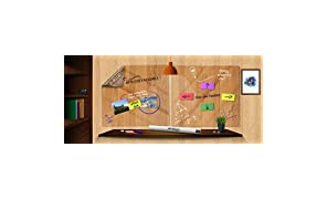 STATIC CLEARBOARDS Resuable TRANSPERENT WHITEBOARD sheets (600mm*800mm)(PACK OF 6 SHEETS )