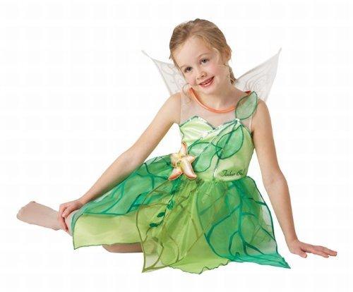 Kinder Feen Kostüm Märchen Feenkostüm Tinkerbell Fee Elfe Kinderkostüm L 7-9 Jahre (Tinkerbell Kostüm 7 8)