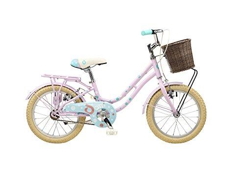 de Novo Dotti 40,6cm ruota Heritage 20,3cm bicicletta per bambini telaio in vimini rosa/azzurro singola velocità