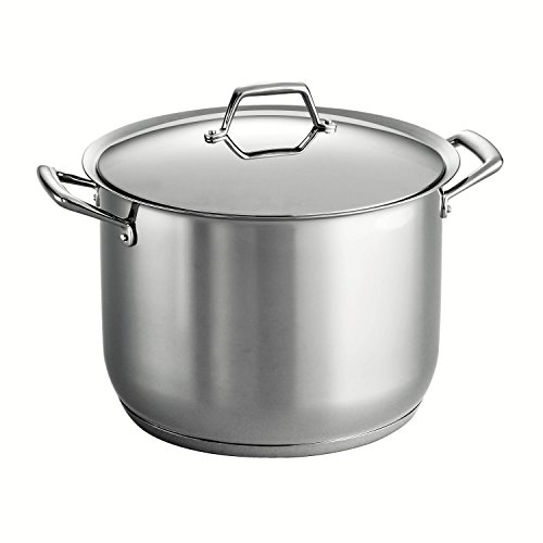 Tramontina Gourmet Prima 18/10 Stainless Steel Tri-Ply Base Covered Stock Pot, 16-Quart by Tramontina 16 Quart Stock Pot