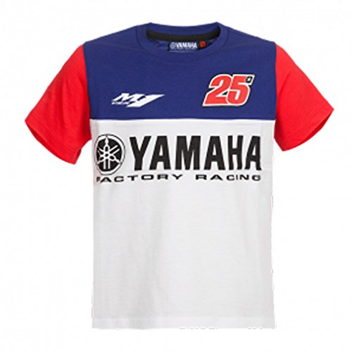 Maverick Vinales 25 Moto GP Yamaha Factory Racing Enfant T-shirt Officiel 2017