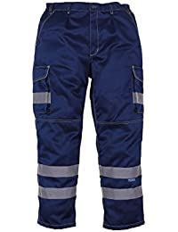 Salut vis pantalon cargo polycoton avec poches genouillères (HV018T / 3M)