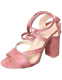 Sandalias mujer, Manadlian Sandalias de mujer Tacones altos Tobillo Zapatos con punta abierta Fiesta día
