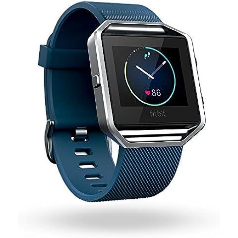 Fitbit Blaze - Smartwatch para actividad física, color Azul, talla  S