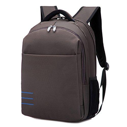 Frau Männlicher Laptoprucksack Mode-Taschen Urlaubsreisen Studenten Beutelschule Brown