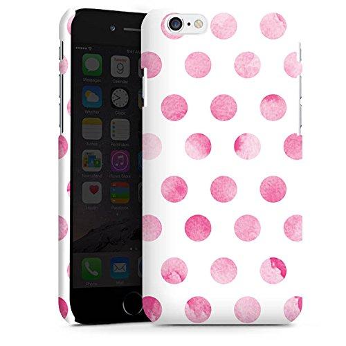 Apple iPhone X Silikon Hülle Case Schutzhülle Punkte Frühling Pink Premium Case matt