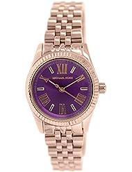 Michael Kors MK3273 - Reloj para mujer con correa de acero, color morado / gris