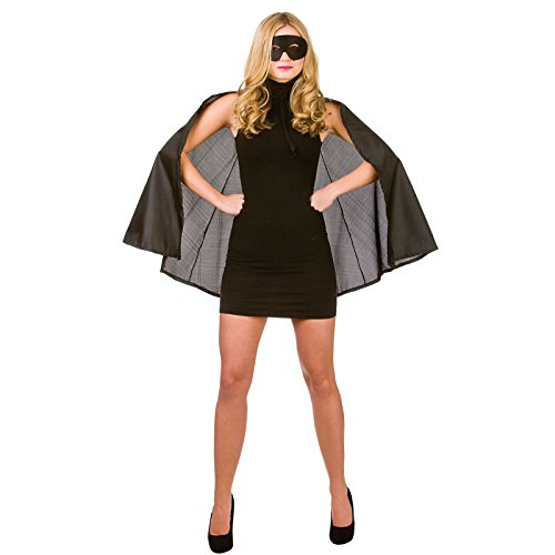 mask Black Superheor Costume Heroine Super Woman Outfit (Super Hero Kostüm Ideen)