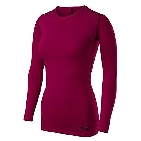 TCA T-shirt/Top Femme Sport SuperThermal Performance à manches longues, Running Training - Rose Fuschia, M