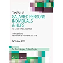Taxation of Salaried persons, Individuals & HUFs