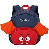 Atmungsaktiver Kinder-Rucksack, reflektierender Sicherheitsrucksack, Cartoon-Schläger, Kindergarten, Ridge-Schutz-Funktion, Büchertasche für kleine Jungen und Mädchen von 1-3 Jahren