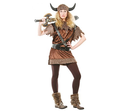 Wikinger Frau - Kostüm für Damen Gr. M-XL, (Wikinger Frau Kostüm)