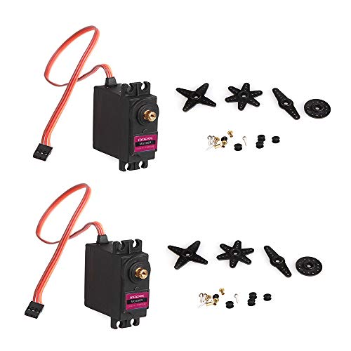 2pcs MG996R Servo, MoPei MG996R Metal Gear Servo-moteur pour RC Car Robot Helicopter Airplane Model