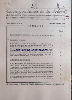 correspondance-de-la-presse-la-no-8798-du-14-03-1984-sommaire-calendrier-de-la-profession-problemes-