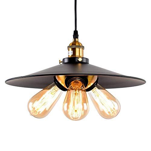 Bronze-drei Licht-insel (Xiao Fan ▶ * Amerikanischen DREI Lichter Kopf Kronleuchter Moderne Vintage Industrie Metall Schwarz Bronze Loft Bar Deckenleuchte Schatten Retro Pendelleuchte ◀)