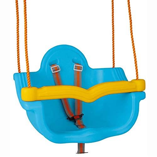 Pilsan Babyschaukel 2 in 1 06138, Abnehmbarer Bügel, Sicherheitsgurt ab 1 Jahr blau