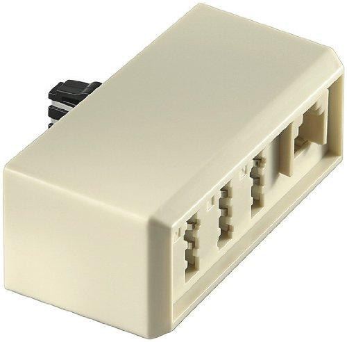 Wentronic TAE Adapter (Stecker F auf Kupplung NFN undKupplung RJ11 NFN) beige