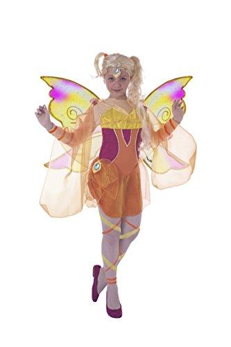 Club Kostüm Winx - Ciao, Bloomix Kostüm Winx Club, Art. 11185 7-9 anni Stella (Arancione, Giallo)