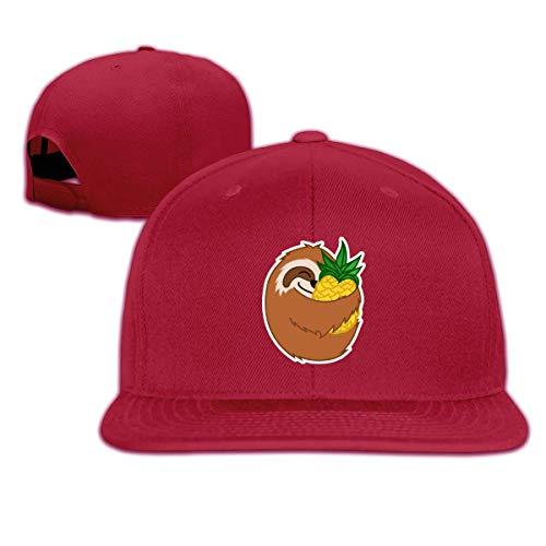 Unisex Retro Sloth Snapback Hats Campus Adjustable Baseball Cap Hip Hop Cricket 100% Cotton Flat Bill Ball Hat Running Retro Snapback Hats