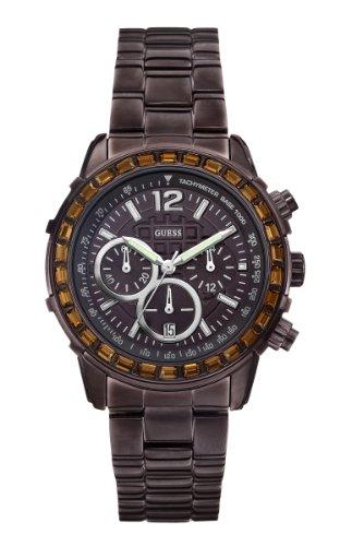 guess women's bracelet chronograph quartz stainless steel watch w0016l4