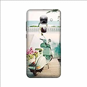 Yashas High Quality Designer Printed Case & Cover for Letv Max 2 (Scooter With Flower)