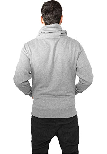 Urban Classics Hoody Contrast Shoulder High Neck Grey/Black