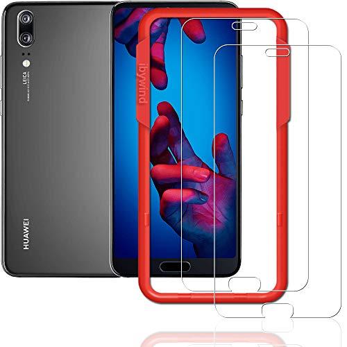 Galleria fotografica Ibywind 2PCS Pack Huawei P20, pellicola * * installazione senza bolle applicatore tempered glass Screen Protector [anti-impronte] per Huawei p20-transparent