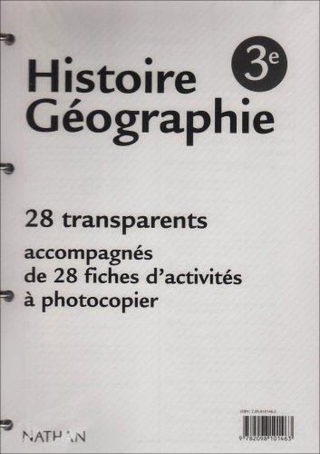 Histoire geographie troisième classe 28 transparents