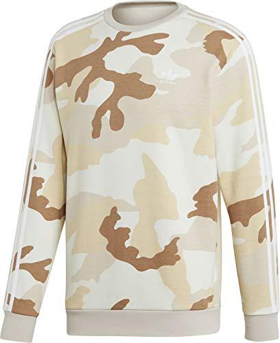 adidas Herren CAMO Crewneck Sweatshirt, Multicolor/Clear Brown, XS Band Crewneck Sweatshirt