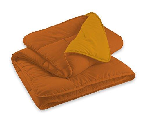 Goldenhome - piumino invernale bicolor helsinki in morbida microfibra per letto singolo a una piazza - double face. usabile anche come trapuntino e interno sacco
