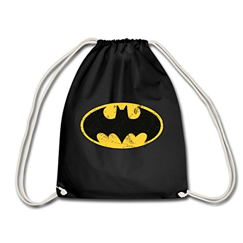 DC Comics Batman Logo Used Look Turnbeutel von Spreadshirt®, (Rucksack Superhelden)