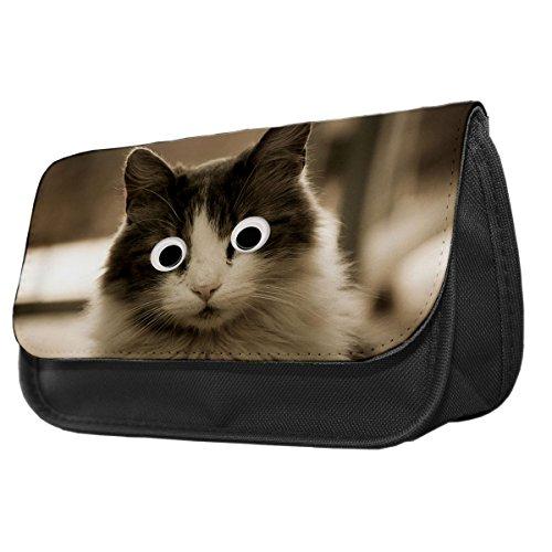 Ragdoll Cat II Googley Augen Tier Bleistift Fall/Make-up Tasche (Up Make Ragdoll)