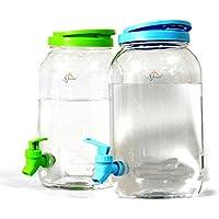 6L DOUBLE DRINKS DISPENSER- Includes 2X 3L PLASTIC JUG MASON JAR HOME PARTY PICNIC GARDEN BAR B Q