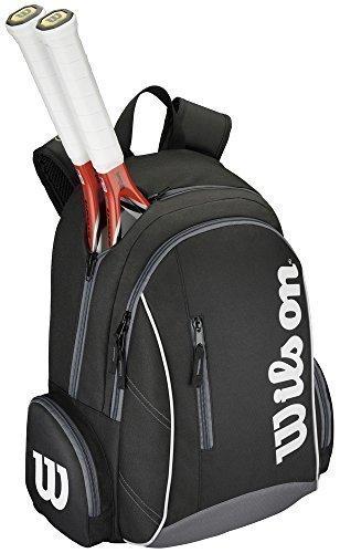 Wilson Tennis Deporte Bolsa de Almacenamiento Equipaje Ventaja II Mochila Negro/Blanco
