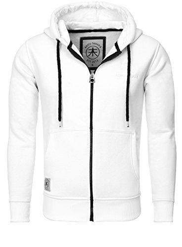 AKITO TANAKA Kapuzensweatjacke mit Logostickerei » New Zip Sweat « New Zip Sweat Herren Langarm AT4 Rot