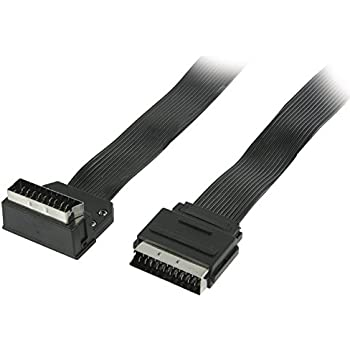 Cable Mountain 90 Degree Hinged Scart Adaptor Amazon Co