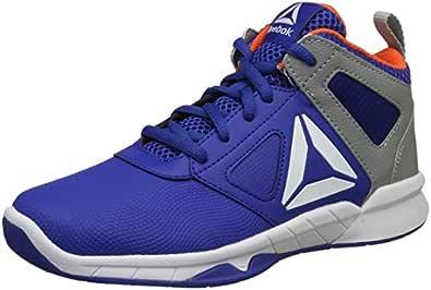 Reebok Boy's Dash N Drill Royal/Gry/Lava/Wht Basketball Shoes-3.5 UK/India (35 EU)(4 US) (CN5111)