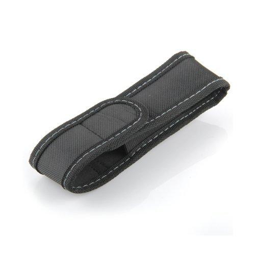 Funda Linterna Tapa Clip Cintura Cinturón Nylon Negro