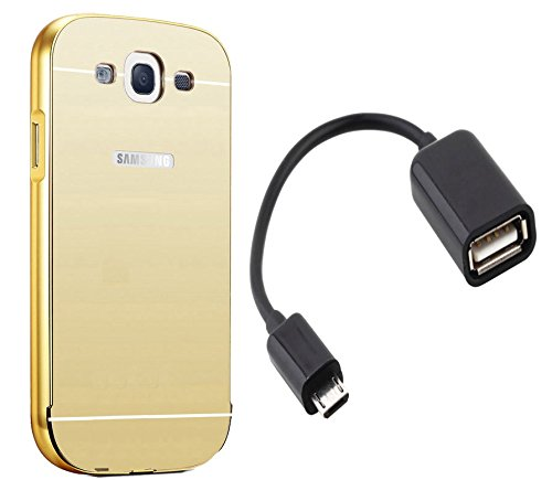 Novo Style Luxury Mirror Effect Acrylic back + Metal Bumper Cover for Samsung Galaxy S3 S 3 i9300 Golden + Micro USB OTG Cable Attach pendrive Card Reader Mouse Keyboard to Tablets Mobile  available at amazon for Rs.329