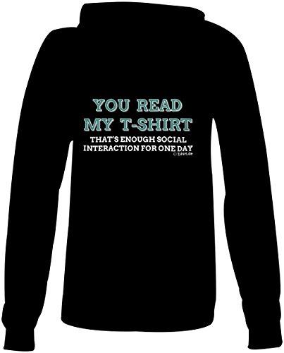 You read my T shirt ★ Confortable veste pour femmes ★ imprimé de haute qualité et slogan amusant ★ Le cadeau parfait en toute occasion schwarz