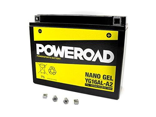 Preisvergleich Produktbild GEL Batterie Poweroad YB16AL-A2 16AH für Ducati Yamaha