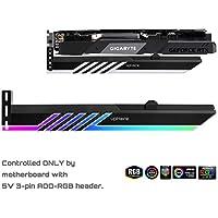 upHere LED Grafikkarte GPU Brace Support-Videokarte Sehnenhalter Halterung, Einzel- Oder Doppelsteckplatzkarten,Unterstützt 5V 3-Pin ADD-RGB Header-GL28ARGB