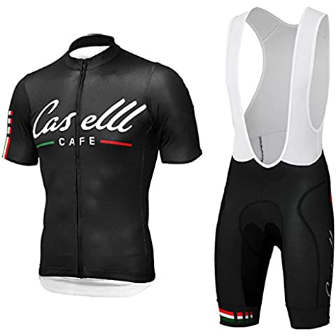 CASTELLI CAFE Ciclismo Jersey maglia Ciclismo Respirable manga corta Ropa de ciclismo Ropa de ciclo rápido de la bicicleta (2XL)