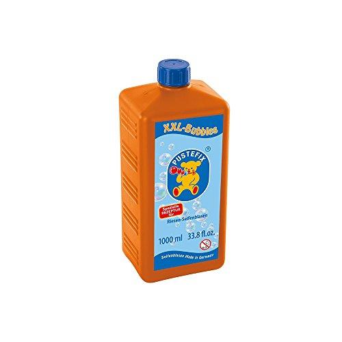 PUSTEFIX XXL-Bubbles Nachfüllflasche Maxi I 1000ml Seifenblasenwasser I Bubbles I Seifenblasen für Hochzeit, Kindergeburtstag, Polterabend I Riesen-Seifenblasen für Kinder & Erwachsene