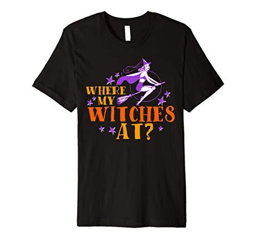 Where My Hexen bei T-Shirt–Funny Hexe Halloween Tee
