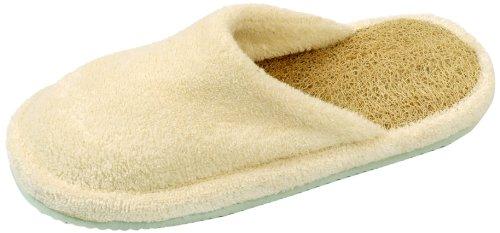 Zapatillas de lufa y yute con punta abierta para Spa de Loofah Savannah; talla europea 39-40 wY1T9dr0