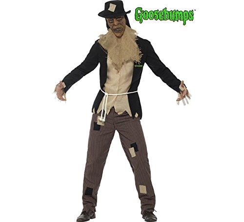 Smiffys Herren Vogelscheuche Kostüm, Jacke, Shirt, Hose, Gewand, Maske und Hut, Größe: L, 42942