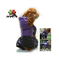 Hopereo Pet Dog Clothes Rain Snow Coats Waterproof Raincoats For Small Medium Large Dogs,Purple,L