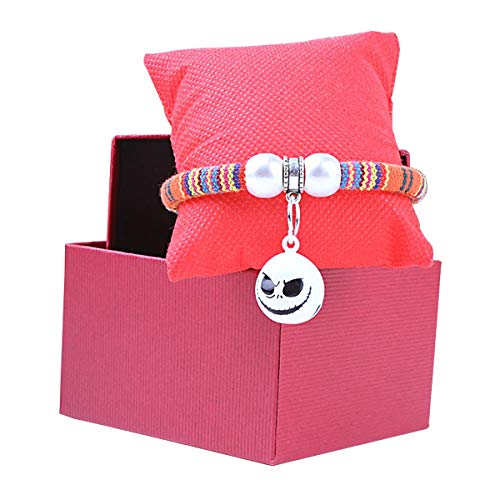 Jinxuny Haustier Katze Hundehalsband Handmade Mode Print Woven Halskette mit Glückskatze Glocke einstellbare Krawatte XS S M (Size : M) -