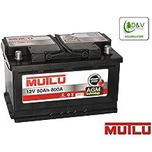 COCHE BATERÍA MUTLU 80Ah 800A (ES) 12V AGM para los coches con sistema Stop & Start